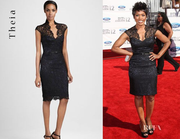 e19f991af9 Angela Bassett s Theia Lace Cocktail Dress now available at Neiman Marcus