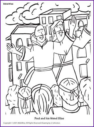 Image result for free coloring pages Paul and Barnabus