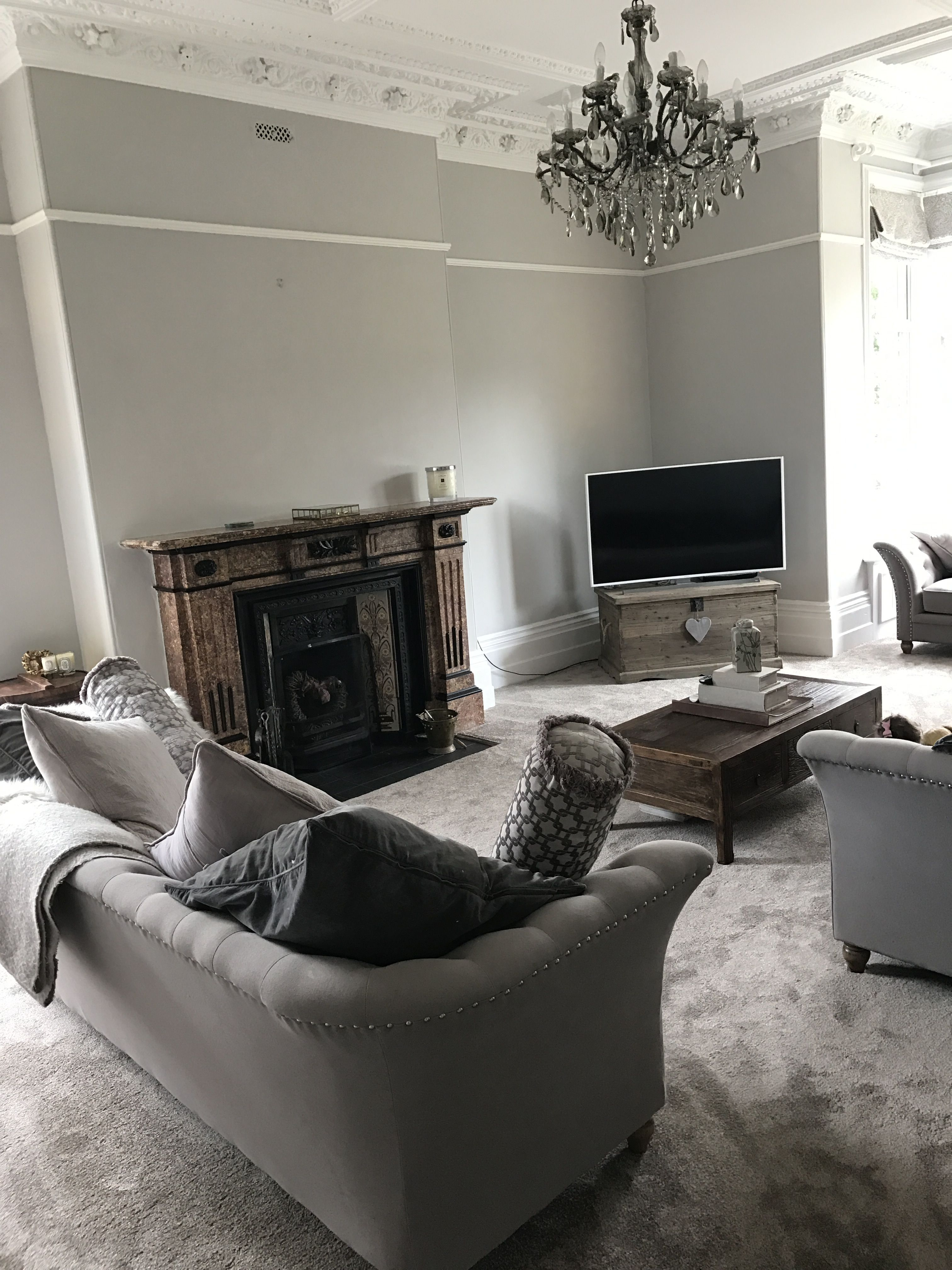 Best My Living Room Farrow And Ball Cornforth White Walls 400 x 300