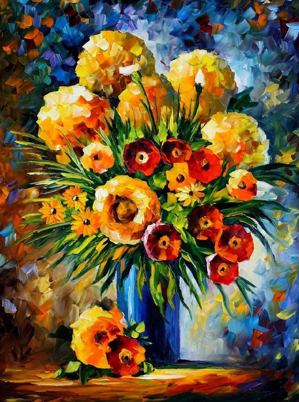 Resultado De Imagen Para Cuadros Con Espatula Flores Unique Canvas Art Oil Painting Flowers Art Painting Oil