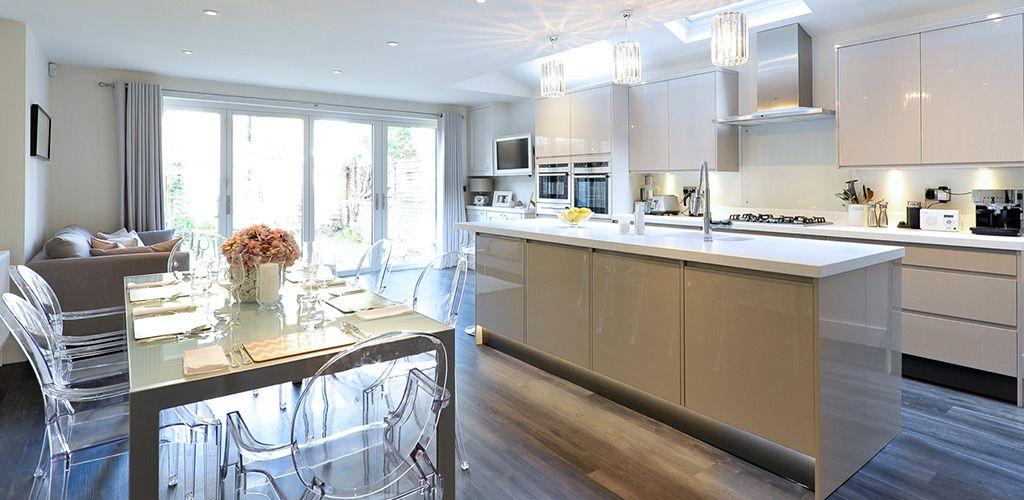 Wren Living: Handleless Cashmere Gloss   Kitchen Sillwood ...