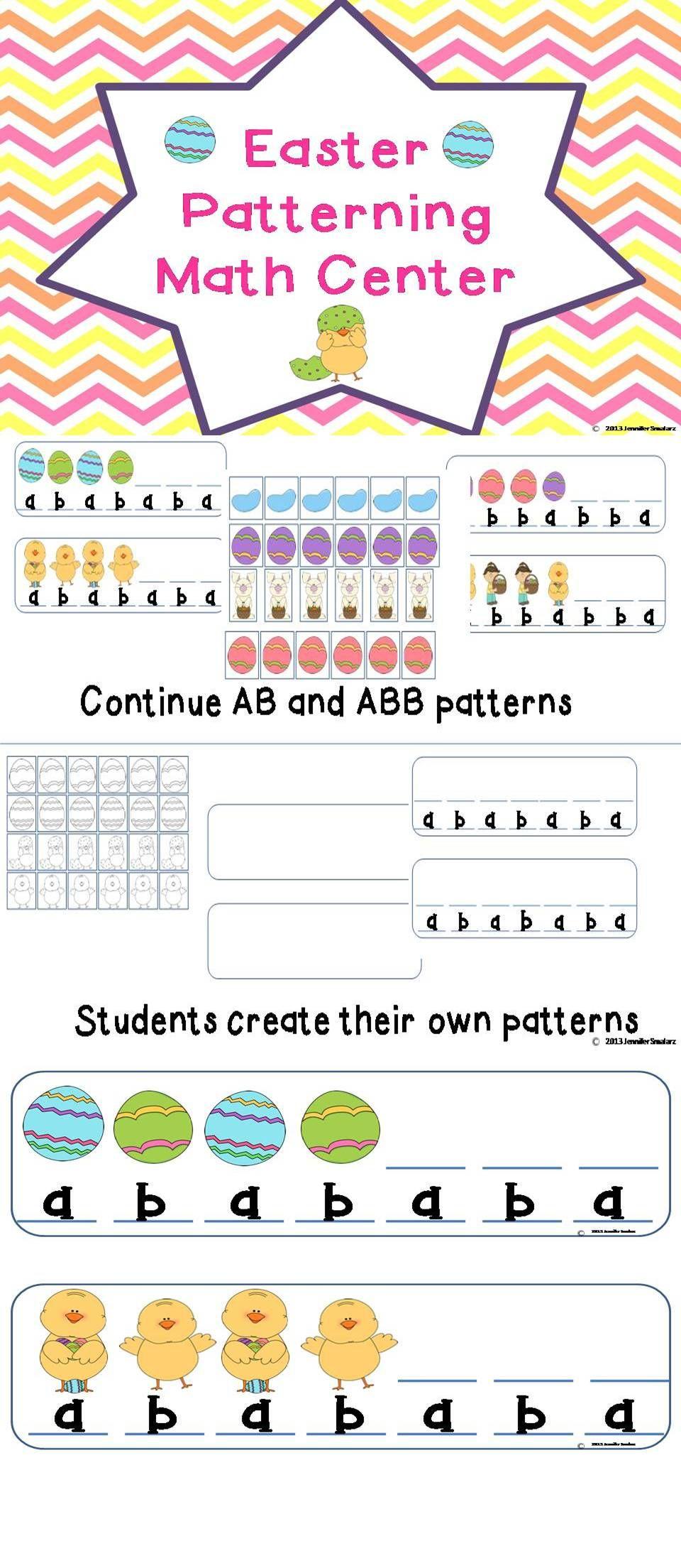 Easter Patterning Math Center Math Center Math Easter Math [ 2208 x 960 Pixel ]