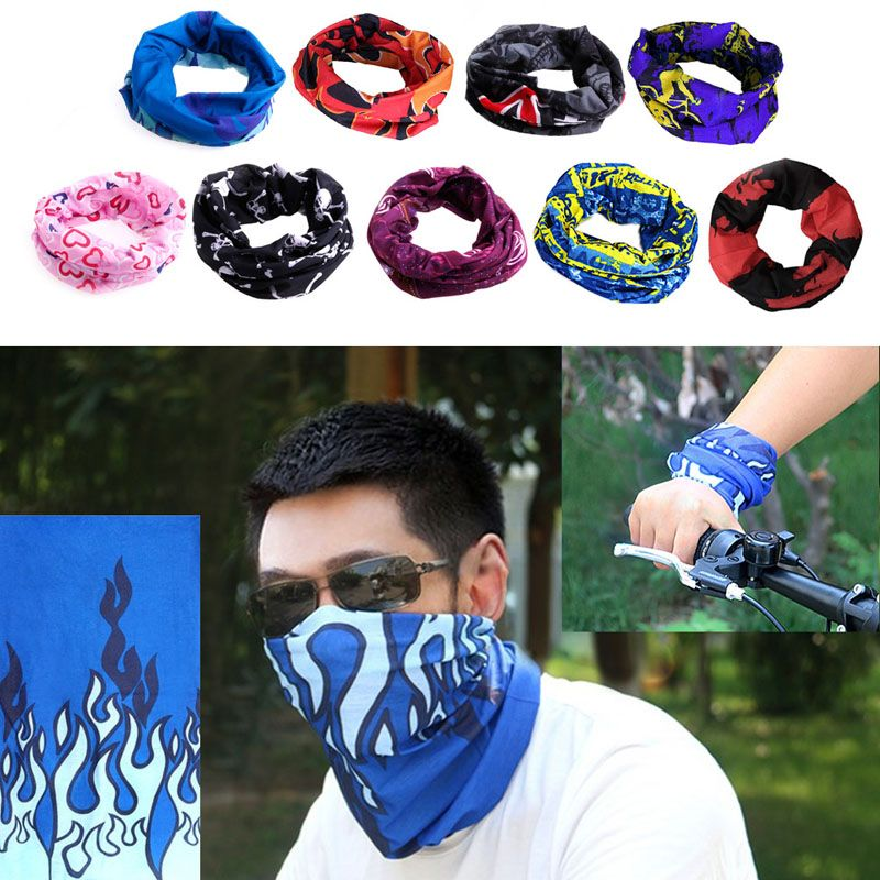 Neck Tube Warmer Snood Bandana Mask Motorcycle Outdoor Biker Hiking Cycling