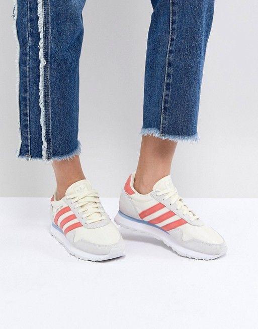 67feee1f9a1 Кроссовки (бежевый красный) adidas Originals Haven