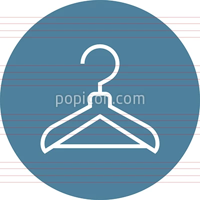 Hanger Closet Wardrobe Outline Icon (With images