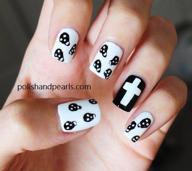 skull nail designs - Skull Nail Designs Nail Art Pinterest Skull Nail Designs