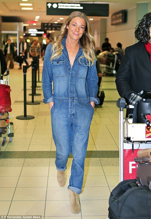 LeAnn Rimes is casually stylish in denim jumpsuit in Toronto  e2fefb2eb53
