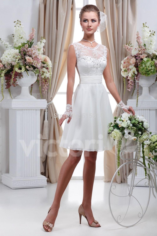 Vestido de Noiva Curto | Elo7