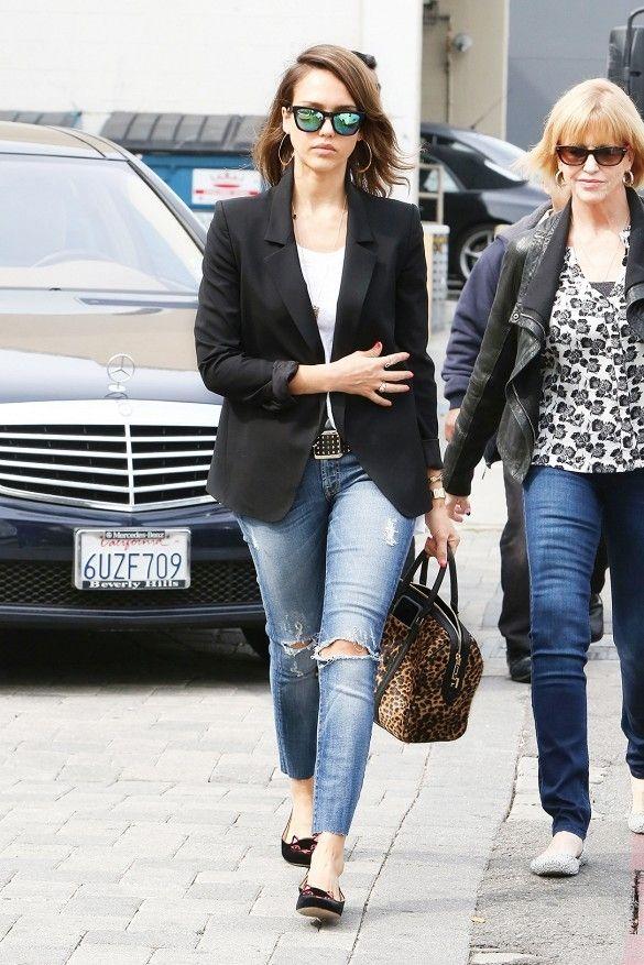 2202d0ffba8 11 Celebrities Wearing Ripped Jeans – Who Wore It Best  ...