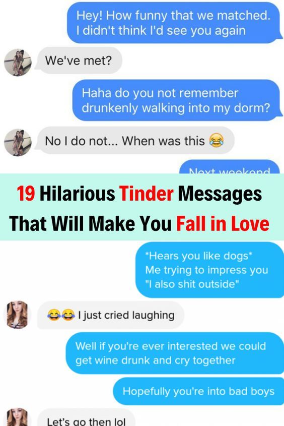 19 Hilarious Tinder Messages That Will Make You Fall in