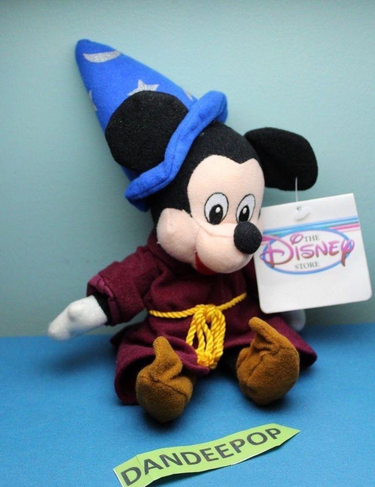 ac541dc5829 The Disney Store And Parks Mini Bean Bag Plush Sorcerer Mickey Mouse  Fantasia  Disney  disneystore  mickey  mickeymouse  sorcerer  beanplush   stuffedanimal ...