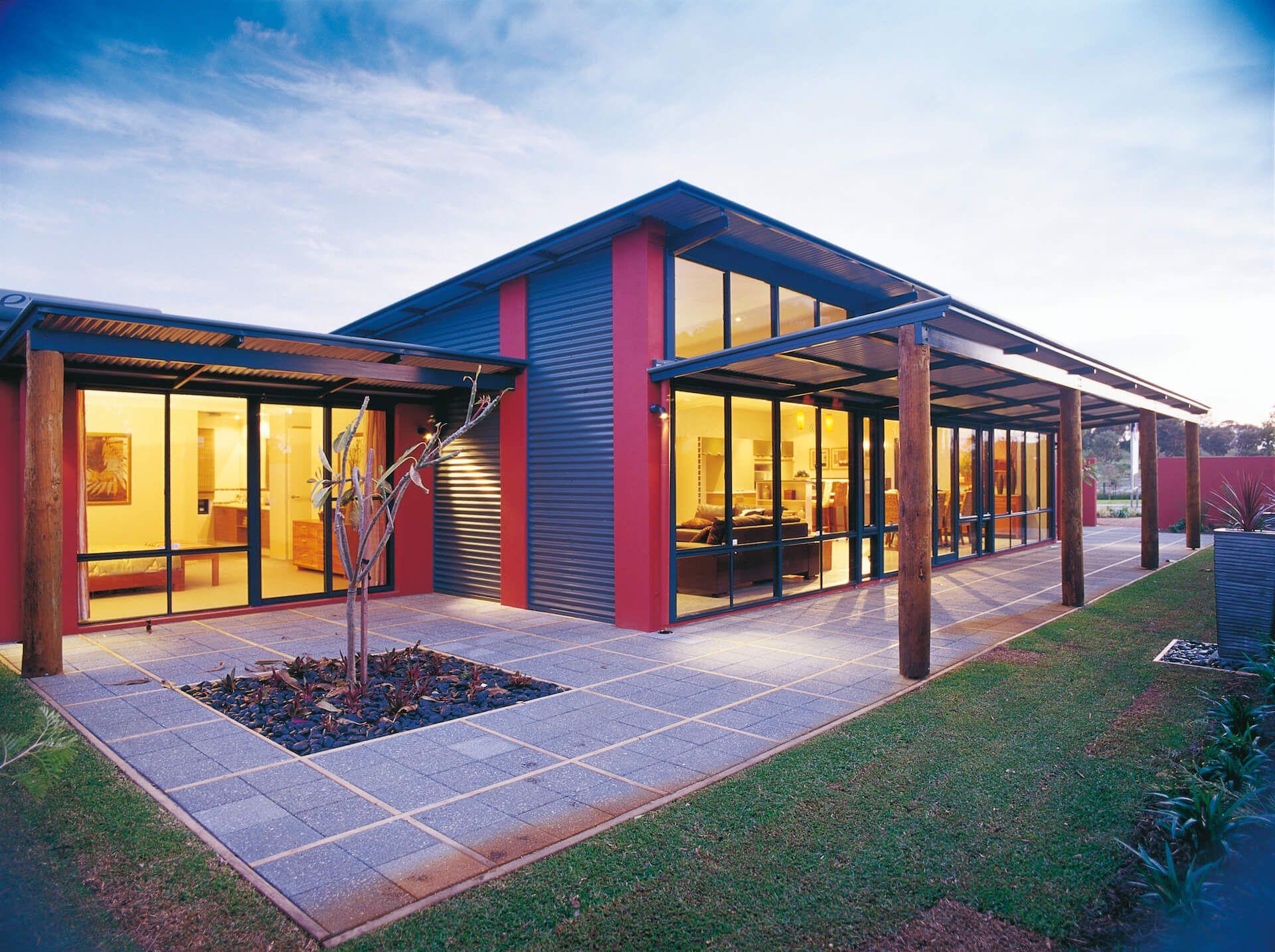 Verandah House Designs Skillion Alfresco Home Designs The Rivergum Skillion Roof House Exterior House Design