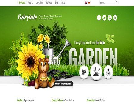 Plantillas de wordpress para sitios sobre jardinería, flores ...