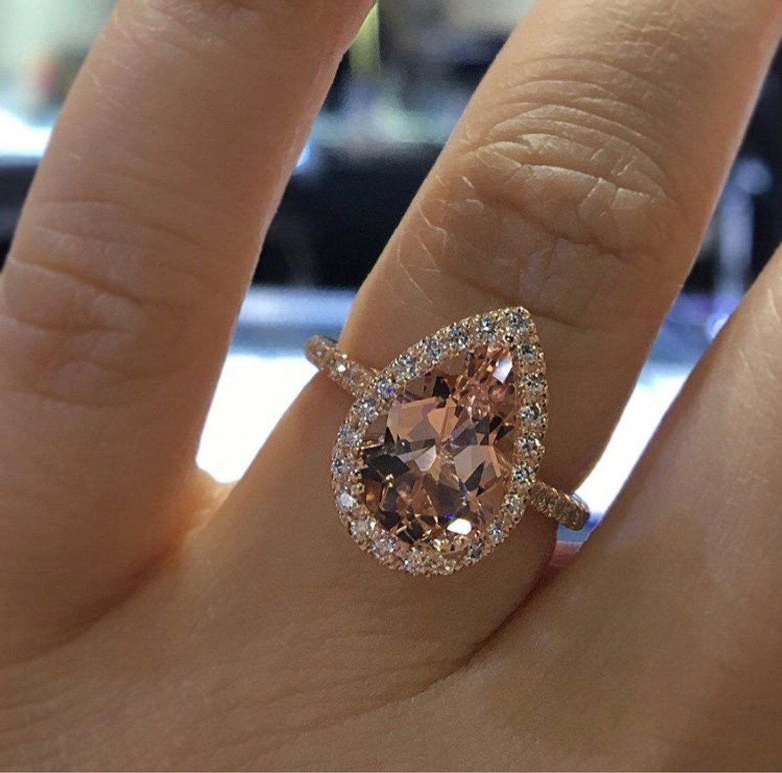 48++ Rose gold wedding band for halo ring information