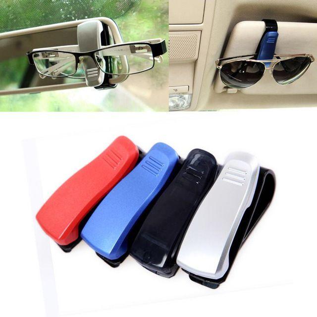 2Pcs Universal Car Sun Visor Glasses Sunglasses Ticket Receipt Card Clip Holder