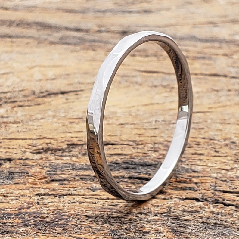 Unisex Wedding Band Faceted Wedding Ring Tungsten Women S Band