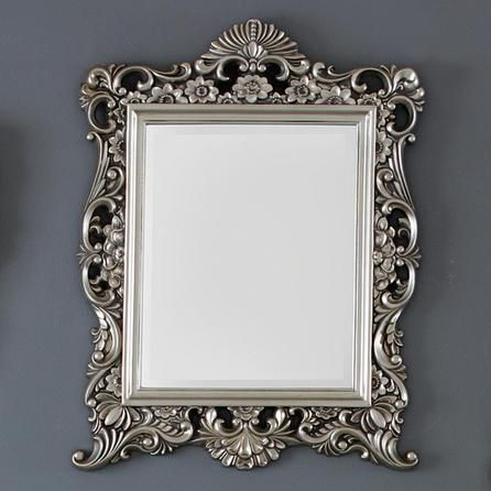 Silver Ornate Framed Mirror Dunelm Home Decor Botanical
