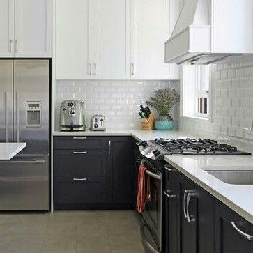 #white #bevel #walltiles from @cancostile and #gorg #porcelain #floor #tiles #tileaddiction #kitchen #backsplash #interiordesign #trending #countertop #stainlesssteel by cancostile
