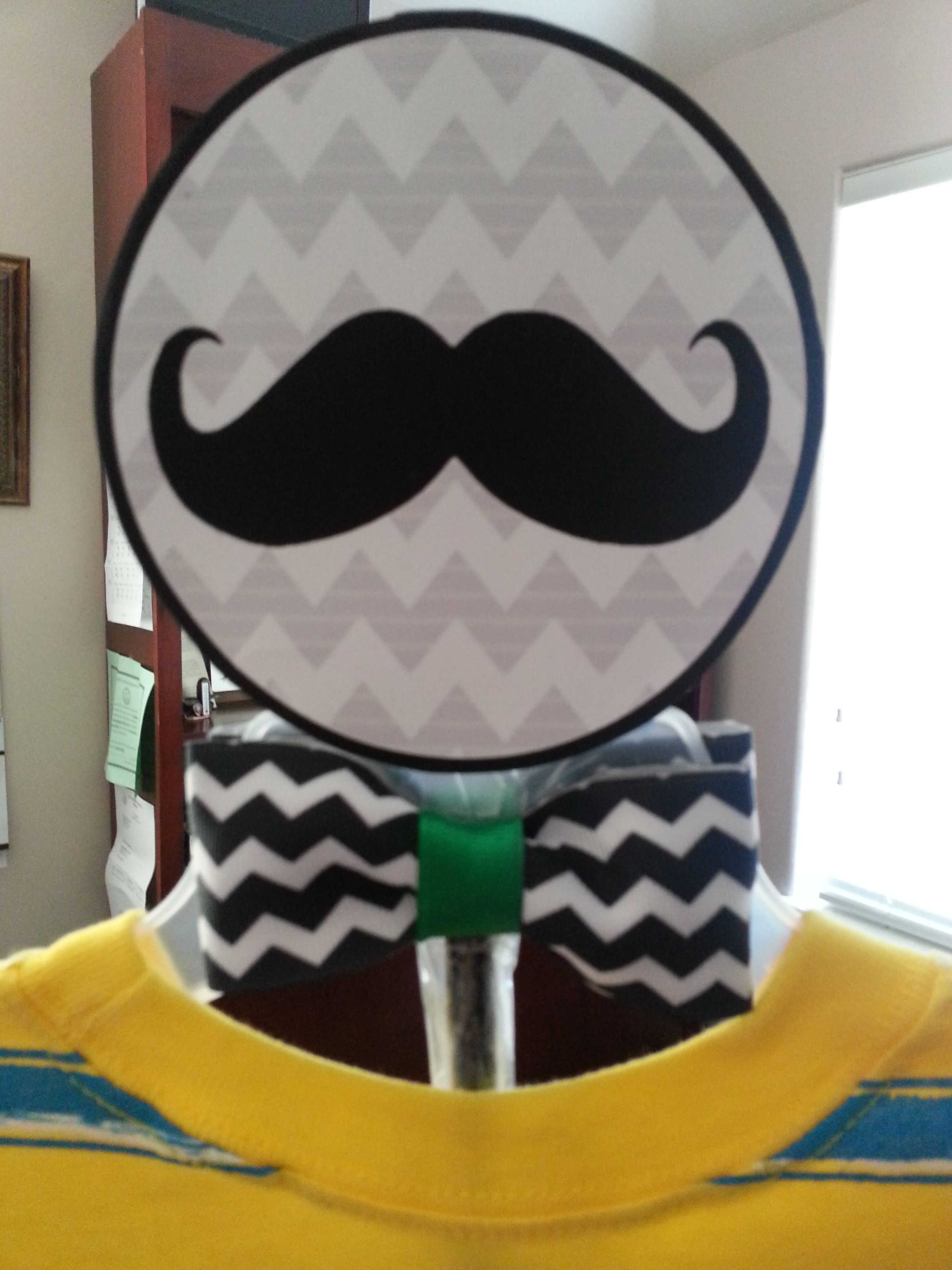Mustache and Bow tie topper | Baby Boy Shower Centerpieces ...