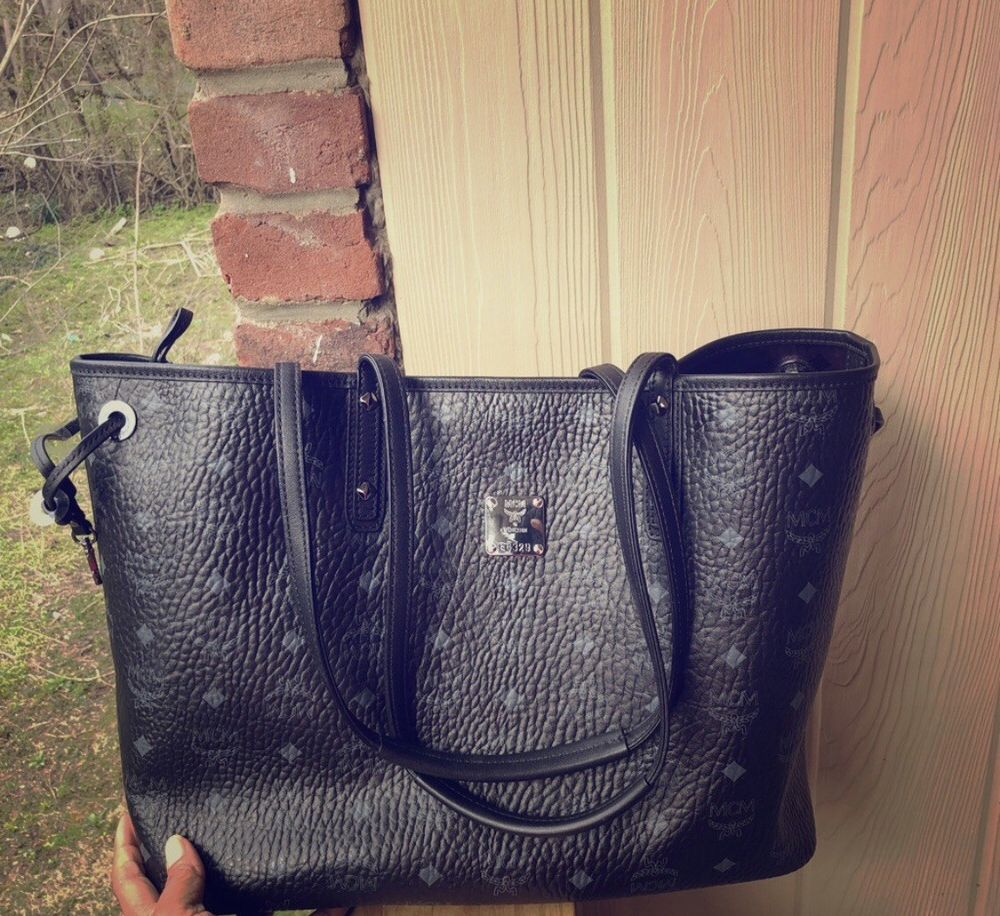 f7882c863c0e MCM Liz Reversible Medium Black Visetos Tote Shopper Shopping Bag  fashion   clothing  shoes  accessories  womensbagshandbags (ebay link)