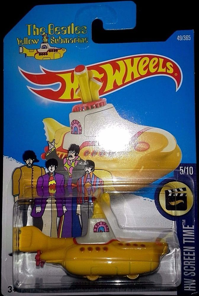 Screen Time Card The Beatles Hot Wheels Yellow Submarine