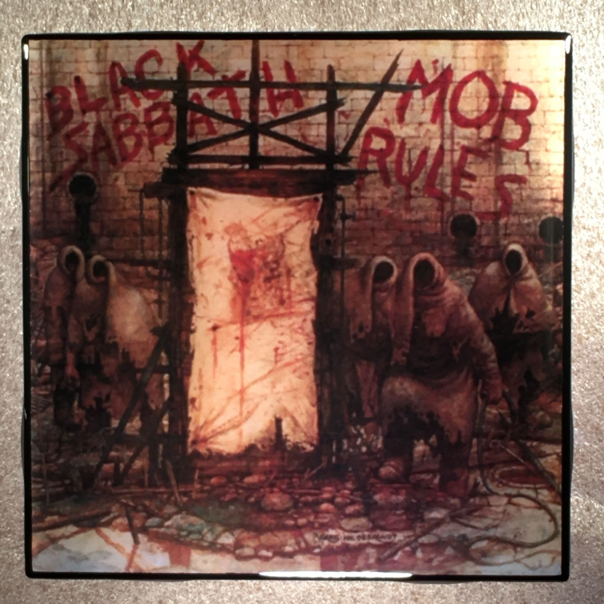 BLACK SABBATH Mob Rules Coaster Record Cover Ceramic Tile