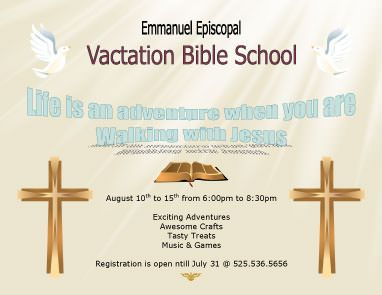 vacation bible school flyer template vacation bible school