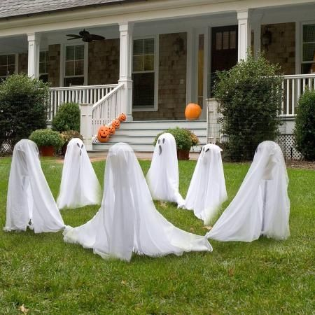 36 Friendly Ghosts Outdoor Halloween Decoration Halloween Lawn Halloween Outdoor Decorations Halloween Garden