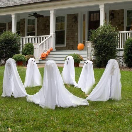 36 Friendly Ghosts Outdoor Halloween Decoration Halloween