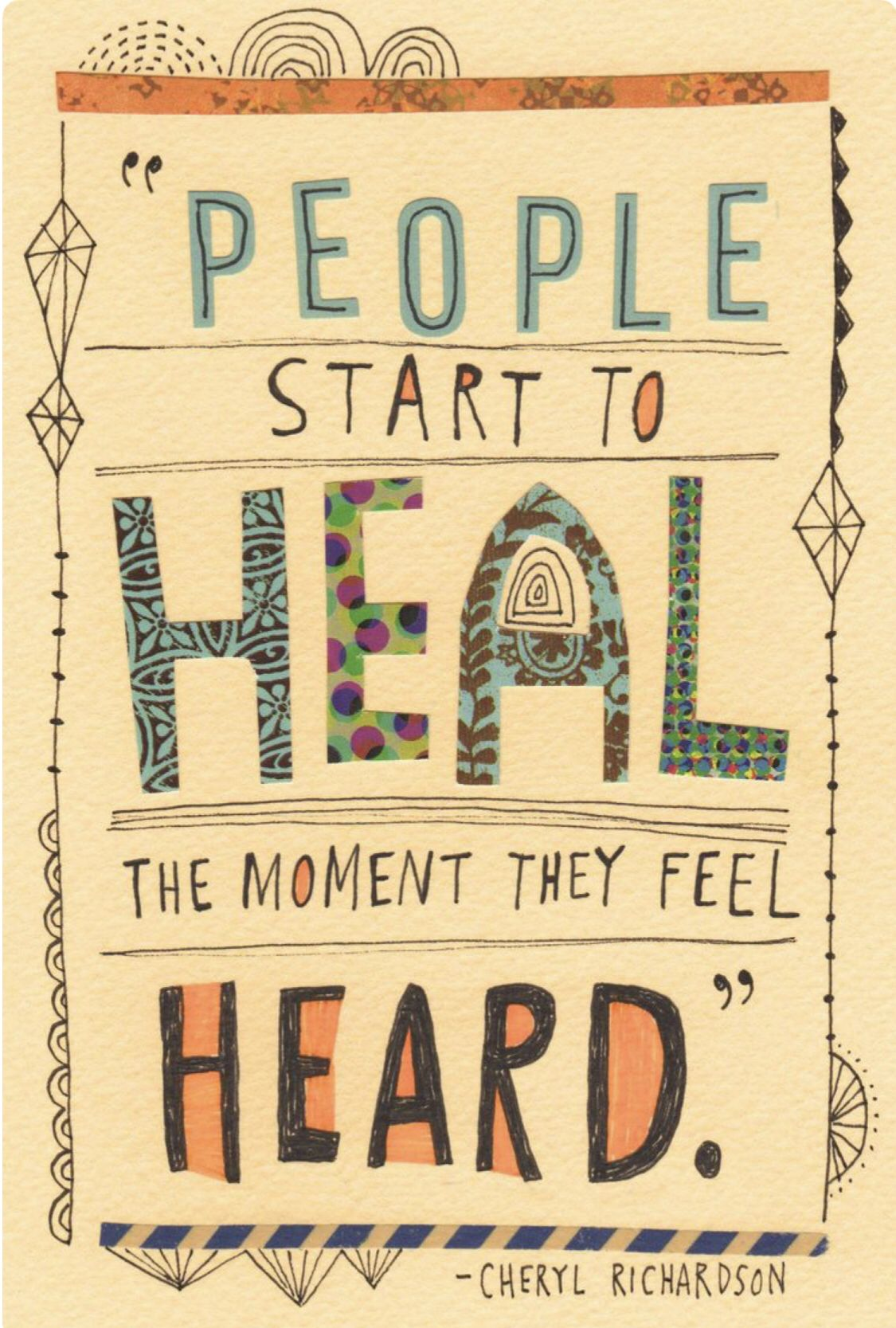 People start to heal when they feel heard ❤️