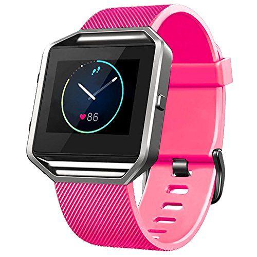 Fitbit Blaze Smart Watch Band - FanTEK Classic Soft Silic