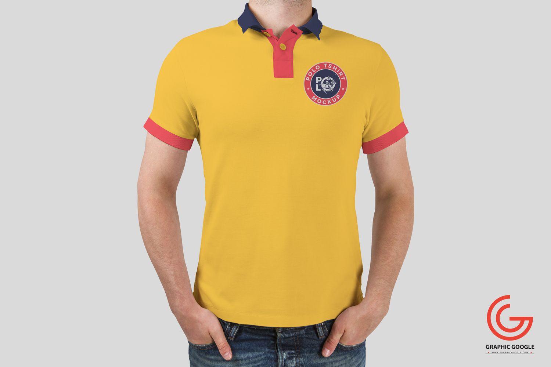 Download Free Man Wearing Polo Tshirt Mockup Shirt Mockup Free T Shirt Design Tshirt Mockup
