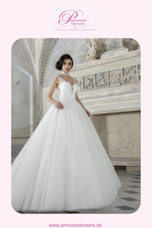 Brautkleid Prinzessin Glitzer Spitze  Ein wunderschönes