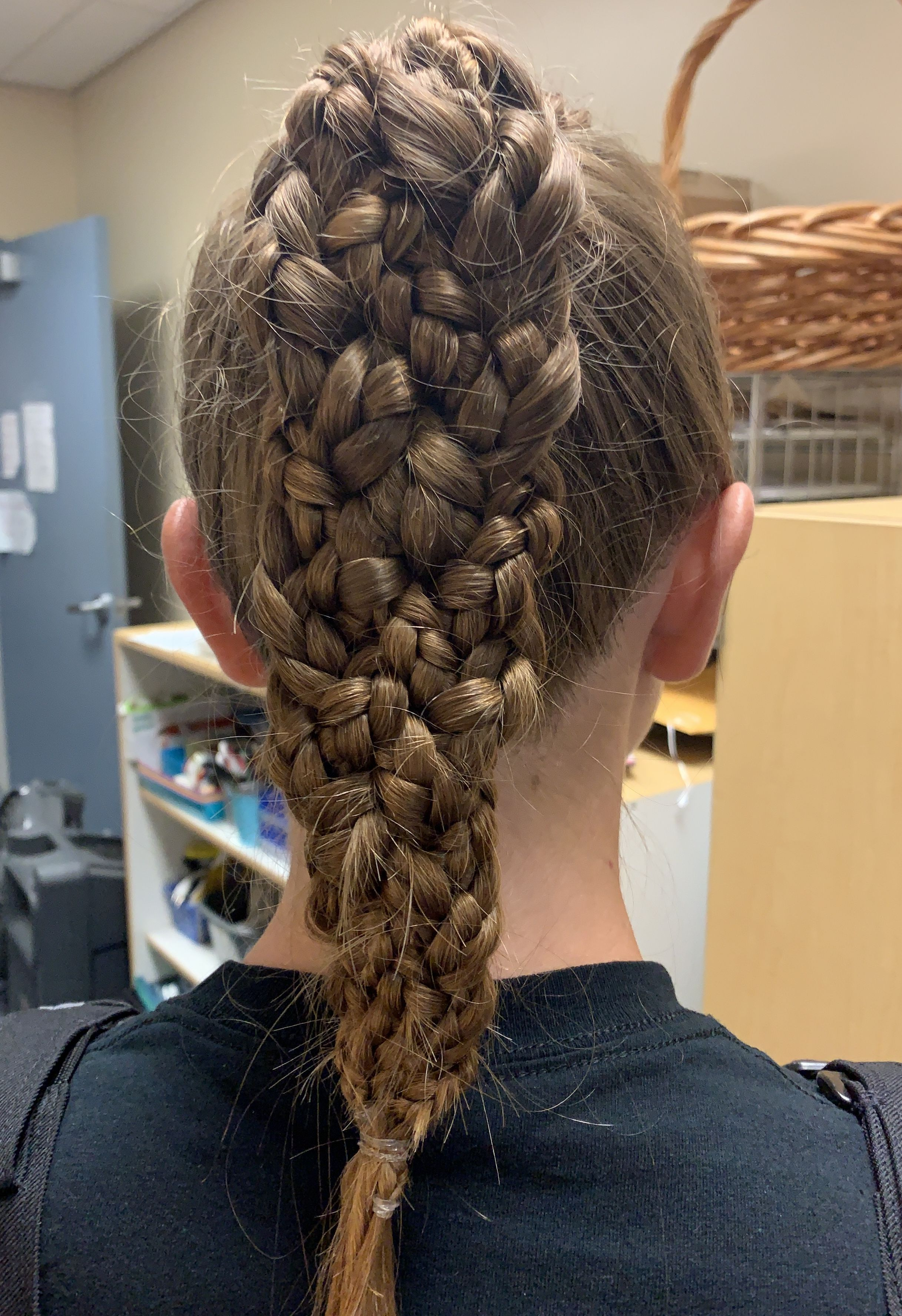 Kids Braided Hairstyle Braided Into Two Ponytails With Bangs And Beads Braided Hairstyles Kids Hairstyles Kids Braided Hairstyles