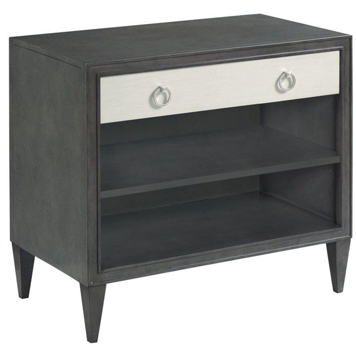Woodbridge Furniture Charcoal Ramsey Bedside Table Nightstands