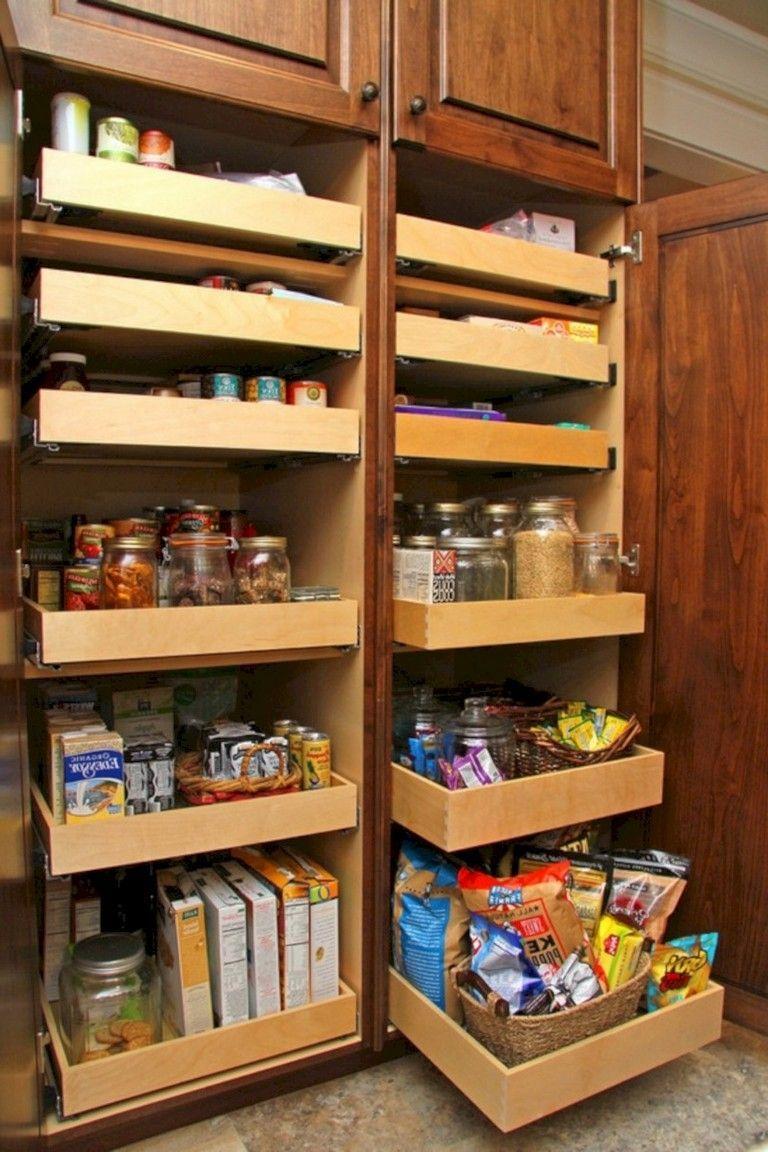 Deep Pantry Organization Deep Pantry Pantry Shelving Pantry Cabinet Kitchen Cabin In 2020 Deep Pantry Organization Deep Pantry Kitchen Cabinet Organization