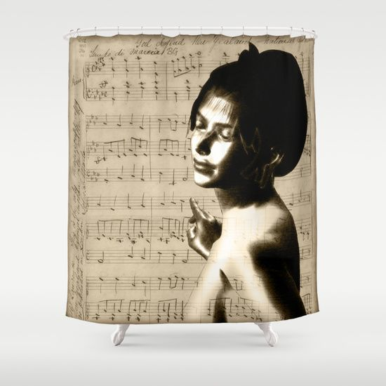 #music #notes #showercurtain #society6 #nude #vintage
