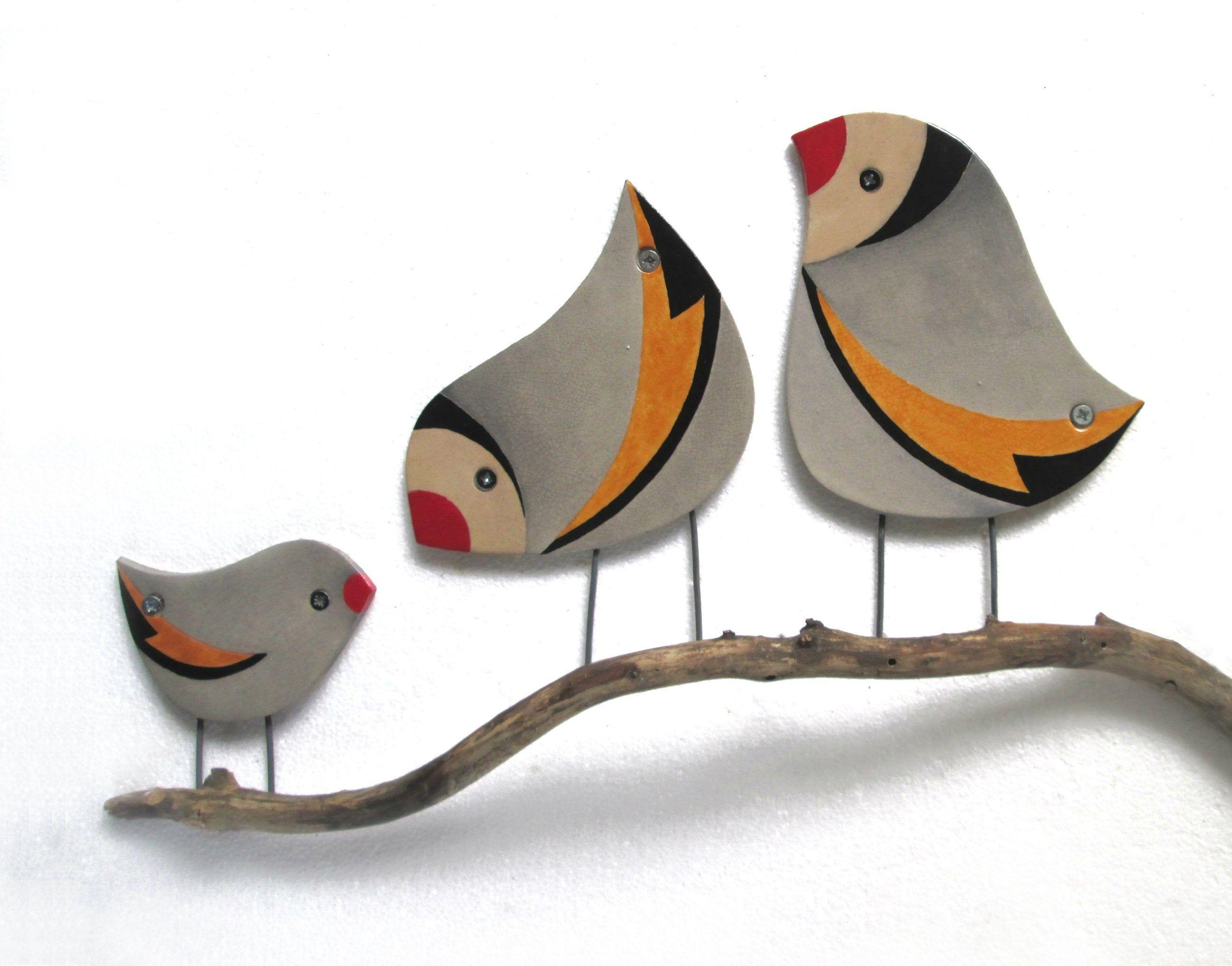 Bird wall art ceramic bird wall decor outdoor wall art