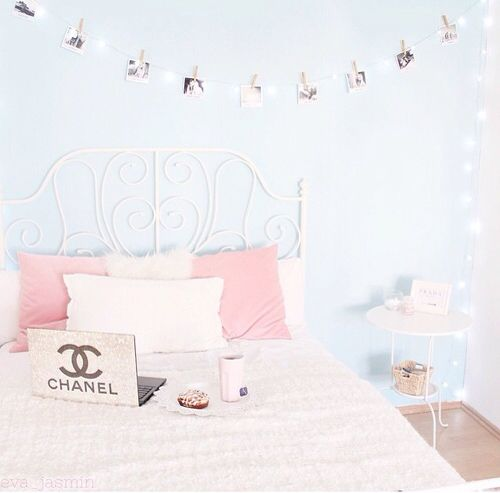Pale blue room #girlydecor