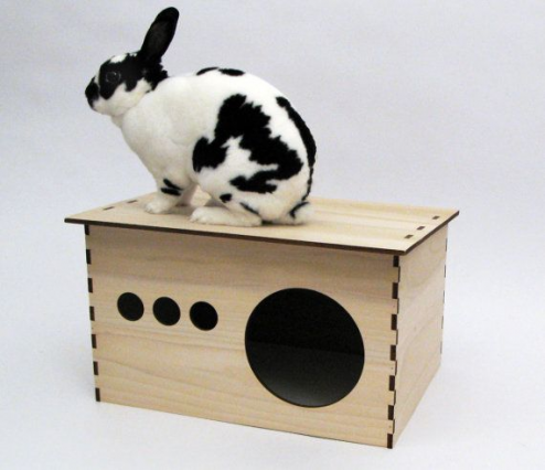 Cape Cod Style Wooden Playhouse For Rabbits By Habifab On Etsy Rabbithouses In 2020 Bunny House Play House Rabbit Hutches