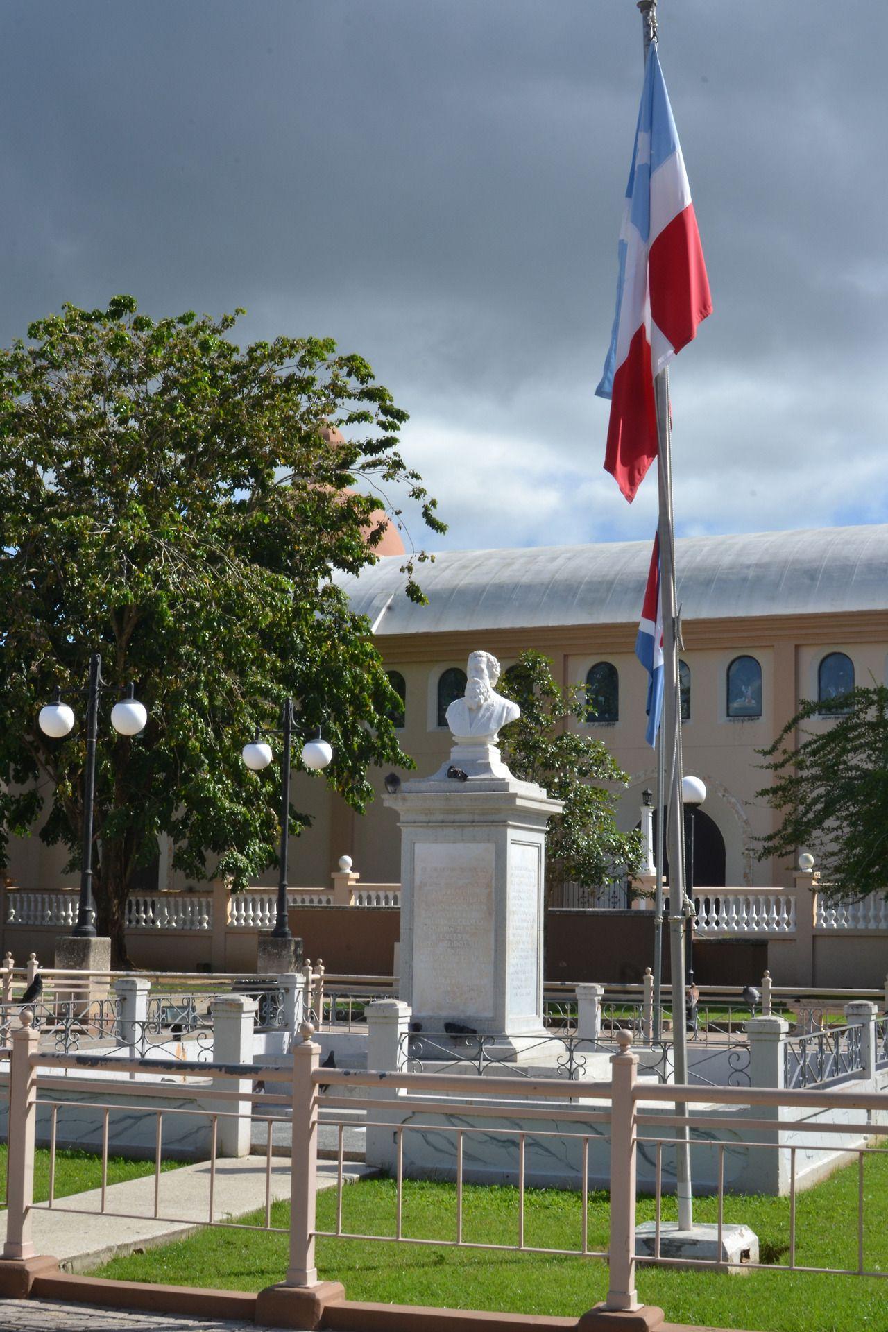 Monument to Eugenio María de Hostos in Cabo Rojo's Plaza, Puerto Rico.