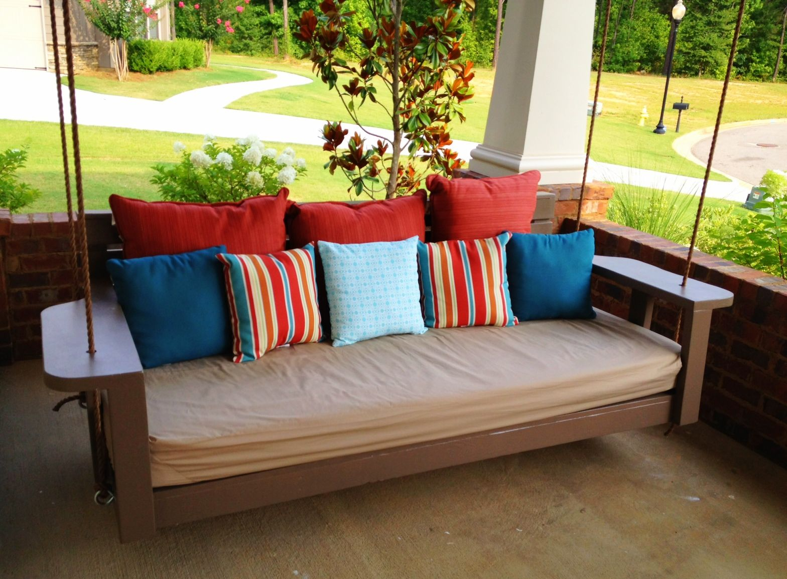 Outdoor hanging beds for sale - Hanging Porch Bed Getting Ready For Summer Enliven Your Porch With Comfy Swings