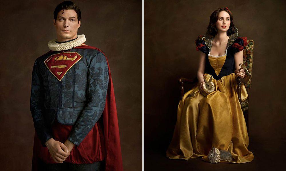 Fotógrafo imagina como seria se personagens da cultura pop e super-heróis vivessem no século XVI