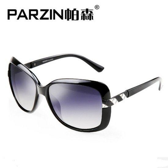 Parzin 2014 Women Polarized Sunglasses  Brands Fashion  UV Sun Glasses Female Shades With Box Black  9227