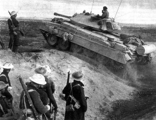 Crusader Mk iii during the Battle of El Alamein, 1942
