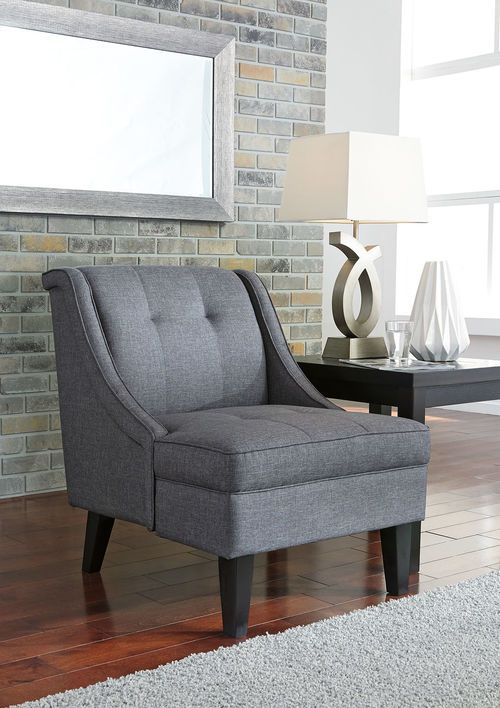 Best Calion Gunmetal Accent Chair Accent Chairs Furniture 400 x 300