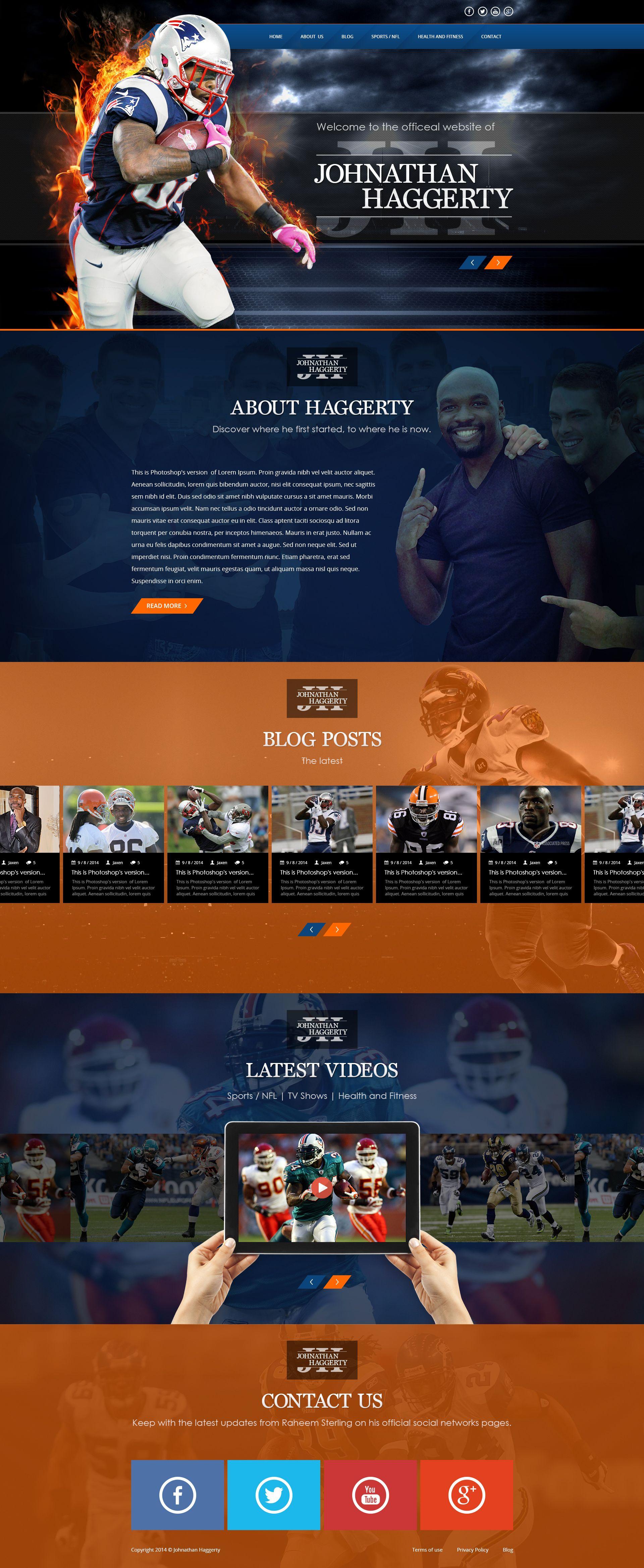 professional athlete website