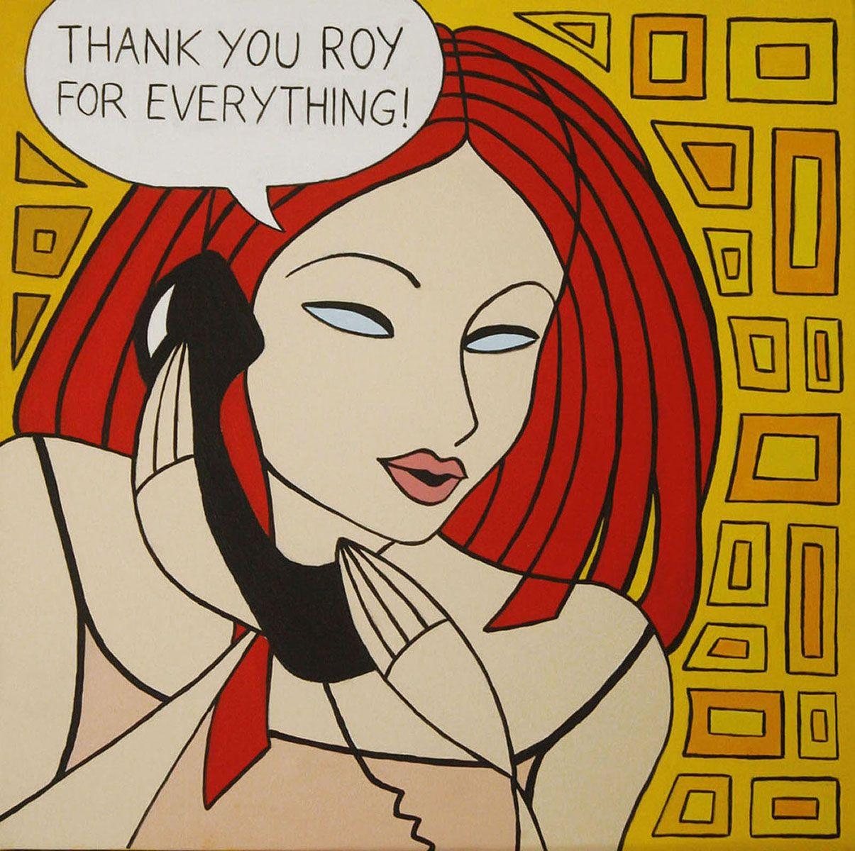 Telefonata a Roy (Phone call to Roy), acrylic on canvas, 50x50cm, 2012