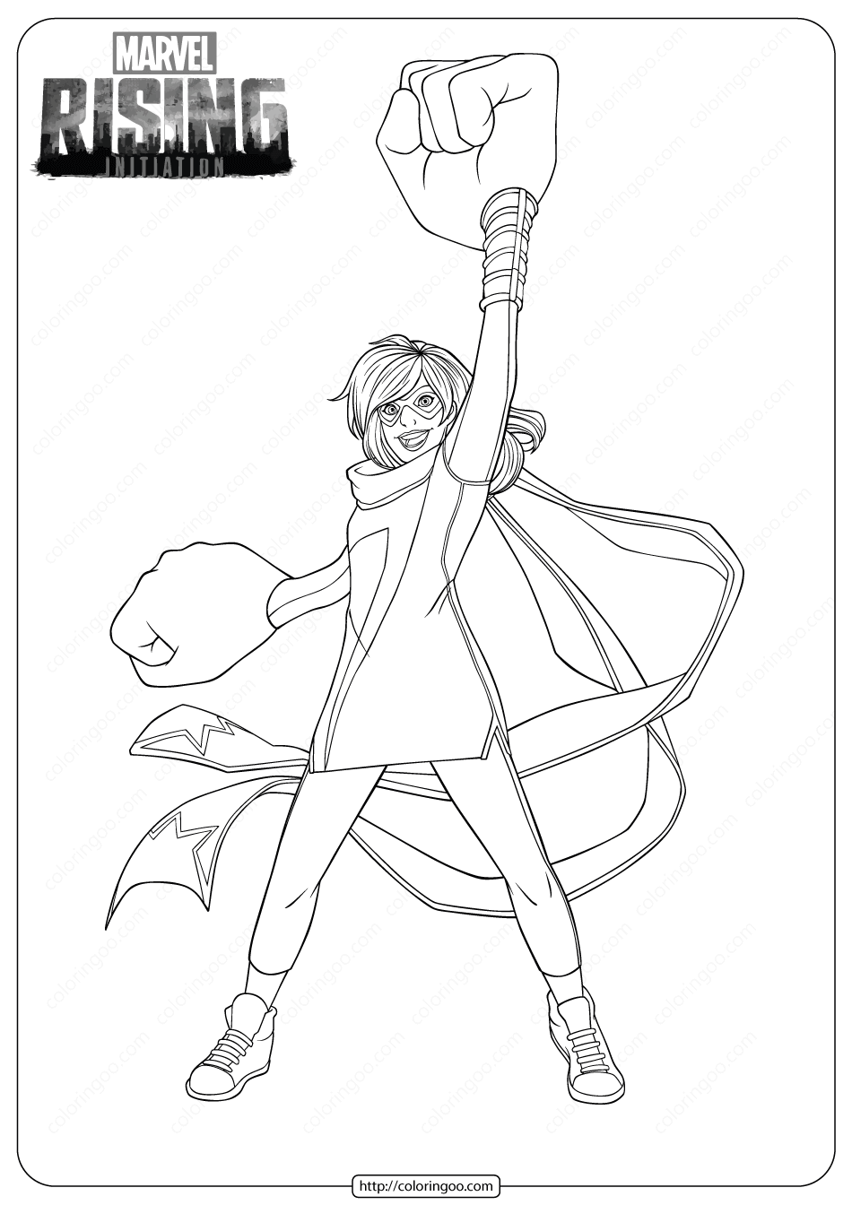 Marvel Rising Ms Marvel Coloring Pages Marvel Coloring Coloring Pages Ms Marvel