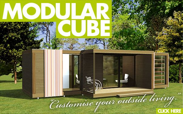 Cube garden accessory summer house hot tub house for Prefabricated garden rooms